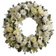 Sympathy Wreath in white